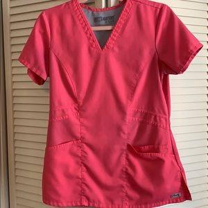 Greys Anatomy Hot Pink Scrub top